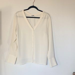 Express Cream French Cuff Blouse